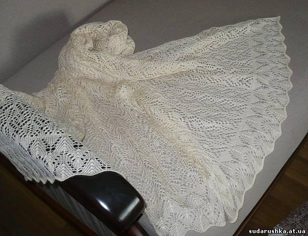 Машинное вязание шаль 14