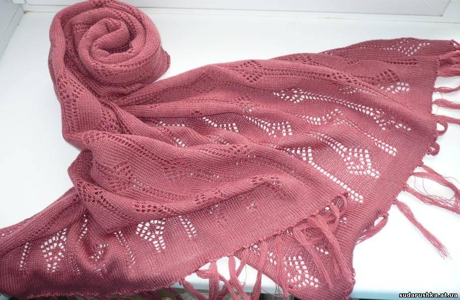 Вязание шарфа машина